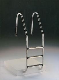 Escada com corrimão Muro com degrau modelo Luxe